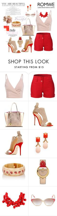 """""""Any one else is taken.Be your own kind of beautiful!"""" by agnesmakoni ❤ liked on Polyvore featuring LE3NO, Giuseppe Zanotti, Kenneth Jay Lane, Mark Davis, Salvatore Ferragamo, Balenciaga and Faliero Sarti"""