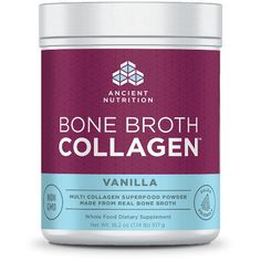 Energy Bars Shakes and Drinks: Ancient Nutrition Bone Broth Collagen (Vanilla) Gut, Joint, Skin Health -> BUY IT NOW ONLY: $37.8 on eBay!