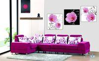 Pf3108 impresso 3 peças painel de pintura a óleo sobre tela arte pictures belo doce e brilhante flores para decoração de casa