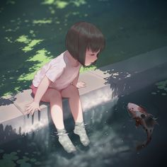 Anime little girl Cool Anime Girl, Kawaii Anime Girl, Anime Art Girl, Manga Art, Anime Girls, Illustration Pop Art, Chibi Anime, Girly Drawings, Digital Art Girl