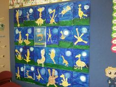 Giraffes can't dance artwork (kindergarten)