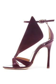 Chelsea Paris ~ Burgundy Leather Sandal Heel, 2014