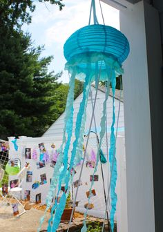 Project Nursery - Mermaid Under the Sea Birthday Party - Decorations - Handcrafted Jellyfish Lanterns