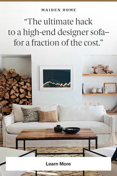 Maiden Home offers designer quality, custom furniture at a fraction of the showroom price. Interior Design Living Room, Living Room Designs, Living Room Decor, Dining Room, Small Living, Living Spaces, Modern Living, Lounge, Living Room Inspiration
