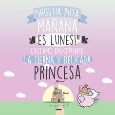 Vaya con la princesa!!! Mr Wonderful, Love Phrases, Life Rules, Happy Smile, E Cards, Life Inspiration, Funny Cute, Jokes, Positivity