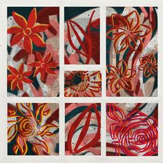 Fleurs d'été - mixed media - juin 2021 Playing Cards, Flowers, Paint, Drawing Drawing, Canvases, June, Playing Card Games, Game Cards, Playing Card