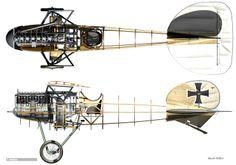 1917 Albatros D.V. Luftstreitkrafte - Fighter. Engine: Mercedes D.IIIau 6 cyl SOHC, liquid cooled, inline engine (200 hp). Armament: 2 x 7.92 mm LMG 08/15 machine gun. Max Speed: 116 mph (186 km/h)