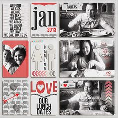 Project Life - date page by Marnel Project Life Scrapbook, Project Life Album, Project Life Layouts, Pocket Page Scrapbooking, Scrapbook Page Layouts, Scrapbook Albums, Scrapbooking Ideas, Scrapbook Photos, Life Journal