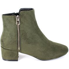 Women's VANITY-02 Casual Faux Suede Low Heel Ankle Boots ** Check this awesome product by going to the link at the image. (This is an affiliate link) #AnkleBootie