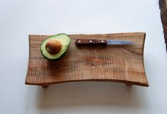 Bistro Cutting Board Rustic Serving Tray Wooden Platter Maple Footed Cheese Board Gift for Foodies. $70.00, via Etsy.
