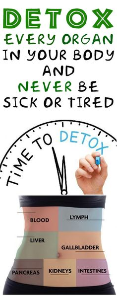 Detox Every Organ in Your Body and Never Be Sick or Tired #health #fitness #diy #detox #remedy #beautycare
