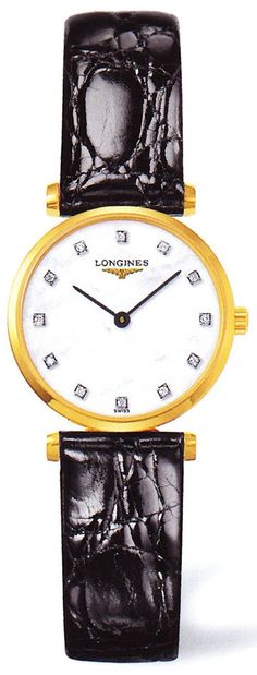 Longines Watch La Grande Classique de Longines #360-image-yes #bezel-fixed #bracelet-strap-alligator #brand-longines #case-depth-5mm #case-material-steel-pvd #case-width-24mm #delivery-timescale-1-2-weeks #dial-colour-white #gender-ladies #luxury #movement-quartz-battery #official-stockist-for-longines-watches #packaging-longines-watch-packaging #subcat-la-grande-classique-de-longines #supplier-model-no-l4-209-2-87-2 #warranty-longines-official-2-year-guarantee #water-resistant-30m