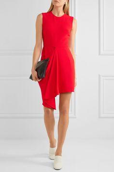Stella McCartney | Draped stretch-crepe mini dress | NET-A-PORTER.COM