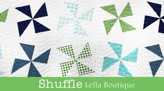 Video Tutorial: How to Make the Shuffle Quilt - Lella Boutique - Fat Quarter Shop Quilting Tips, Quilting Tutorials, Quilting Projects, Fat Quarter Quilt, Fat Quarter Shop, Cute Quilts, Easy Quilts, Patch Quilt, Quilt Blocks