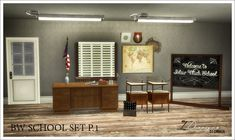 BW School Set P.1 (New Meshes) | Sims 4 Designs