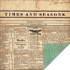 Echo Park - Times & Seasons - Yesterday's News - 12x12 double-sided scrapbook paper