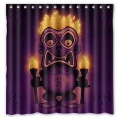 Cheap curtain bathroom, Buy Quality curtain tie backs metal directly from China curtain with led lights Suppliers: Bathroom Products Tiki Printed Polyester Fabric Shower Curtains Waterproof Washable Curtain 180X180CM