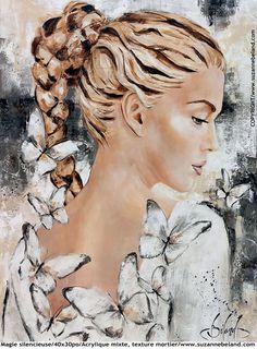 Fine Suzanne Béland, artist peintre – index – Images D'art, L'art Du Portrait, Photo D Art, Digital Art Girl, Face Art, Mixed Media Art, Art Pictures, Watercolor Art, Fantasy Art