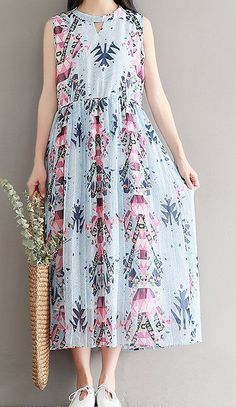 Women loose fit over plus size flower dress maxi long tunic pregnant maternity #Unbranded #dress #Casual
