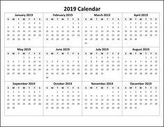 23 Best Top 10 Free 2019 Calendar Printable images | Calendar 2019