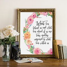What Lies Behind Us, Henry David Thoreau Quote Art Print, inspirational quote , Handlettering Calligraphy Inspirational Quote Printable by FancyPrintsBoutique on Etsy https://www.etsy.com/listing/474950666/what-lies-behind-us-henry-david-thoreau