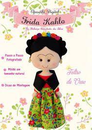 Resultado de imagen para molde frida kahlo feltro