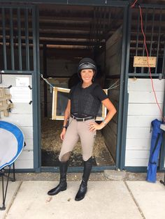 Team Soteria Equestrian Safety rider and Rolex Kentucky Three-Day Event competitor, Laine Ashker Eventing, wearing her One K helmet and Racesafe Provent 3.0 body protector.