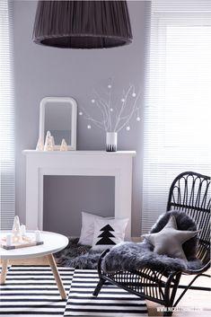 nordische Weihnachtsdeko im Wohnzimmer