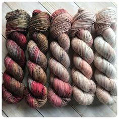 Fading Point Kit: Red Velvet, hand dyed yarn