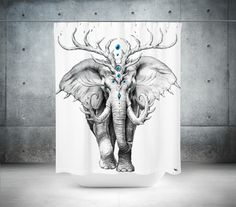 Elephant Soul Shower Curtain