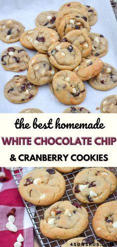 Cookies are one of America's all time favorite desserts, especially since they're so customizable. Give your traditional version a festive spin with these tasty white chocolate chip Amazing Recipes, Delicious Recipes, Great Recipes, Yummy Food, Favorite Recipes, One Smart Cookie, Cranberry Cookies, Sunday Recipes, White Chocolate Chips