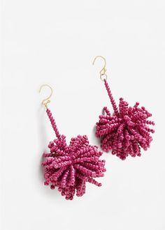 Beaded pendant earrings -  Women   MANGO USA