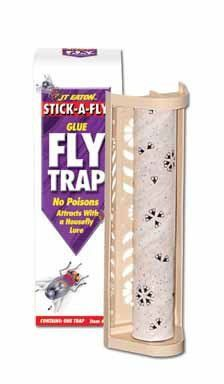 JT Eaton 444 Stick A Fly Trap by JT Eaton. $6.97. Stick a fly trap. Effectively control flies and other flying insects. Packed in plastic bags that include bait holder rod, bait tray, gold keys and upc sticker. Can be placed on shelves, attached to walls using double sided tape. Effectively control flies and other flying insects with time tested fly glue traps. The space-age glue traps and holds flying pests, providing effective control without harmful chemicals, poisons,...