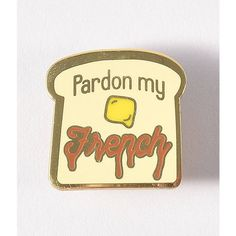 Light Yellow Pardon My French Enamel Pin (38 RON) ❤ liked on Polyvore featuring jewelry, brooches, enamel pin, pin brooch, square broach, enamel butterfly brooch, enamel jewelry and monarch butterfly jewelry