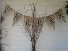 BrrrrrrBurlap Banner Bunting Pennant by funkyshique on Etsy, $28.00
