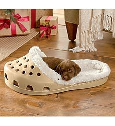 """Dog bed made out of an end table. DIY wood dog bed Think I will do an """"A"""" and an """"R"""" and put them in the playroom How cute is this pet bed? Animals And Pets, Baby Animals, Funny Animals, Cute Animals, Cute Puppies, Cute Dogs, Puppies Stuff, Morkie Puppies, Small Puppies"""