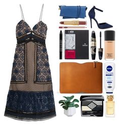 """""""5.333"""" by katrina-yeow ❤ liked on Polyvore featuring Folio, self-portrait, Betani, Vivienne Westwood, tarte, Charlotte Tilbury, Lord & Berry, Max Factor, MAC Cosmetics and Nivea"""