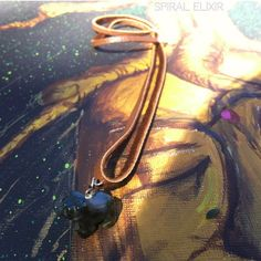 Deerskin Bear Medicine Necklace with Moss Agate by SpiralElixir, $25.00