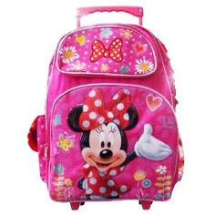 Minnie Mouse 16″ Large Rolling Backpack « Clothing Impulse