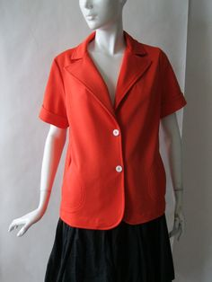 1970's short sleeve lightweight jacket / layer by afterglowvintage, $26.00