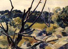 Edward Hopper (1882-1967), Dead Trees, Gloucester, watercolor, 1923, private collection