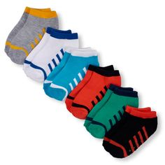 s Toddler Boys Colorblock Ankle Socks 6-Pack - Multi - The Children's Place