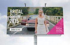 Bridal show billboard graphic design by Robertson Creative, Christchurch, New Zealand