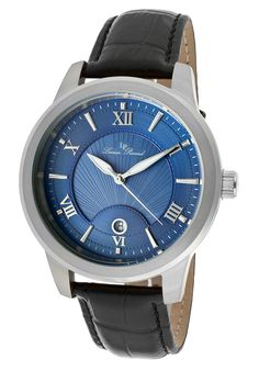Image for Pizzo Black Genuine Leather Blue Textured Dial from World of Watches