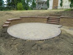 This would be perfect at the bottom of our hill.  Put a fire pit in the middle!