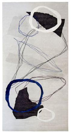 Tapis en laine et soie S36 04 08, collection Série (Galerie Diurne)