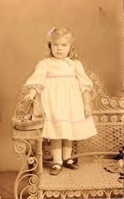victorian flower girl dress-really old photograph