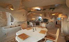 Dick Clark's Stunning Flintstone-Style House For Sale in Malibu, CA