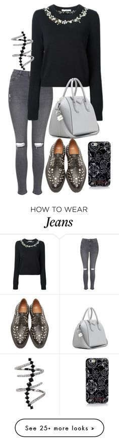 """Untitled #3232"" by bubbles-wardrobe on Polyvore featuring Topshop, Givenchy, Marc by Marc Jacobs and Plukka"