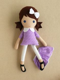 Reserved for Ashley Fabric Doll Rag Doll Brown by rovingovine